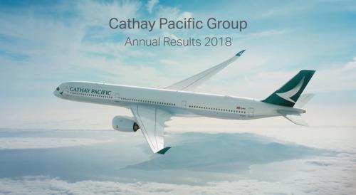キャセイパシフィック航空2018年度決算を発表
