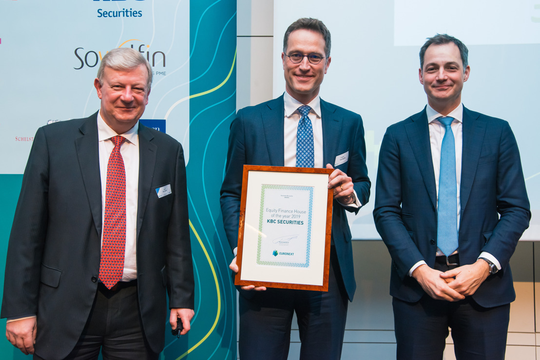 KBC Securities, the big winner of the Euronext Brussels Awards 2019