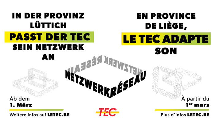 Im März passt der TEC sein Netz an!