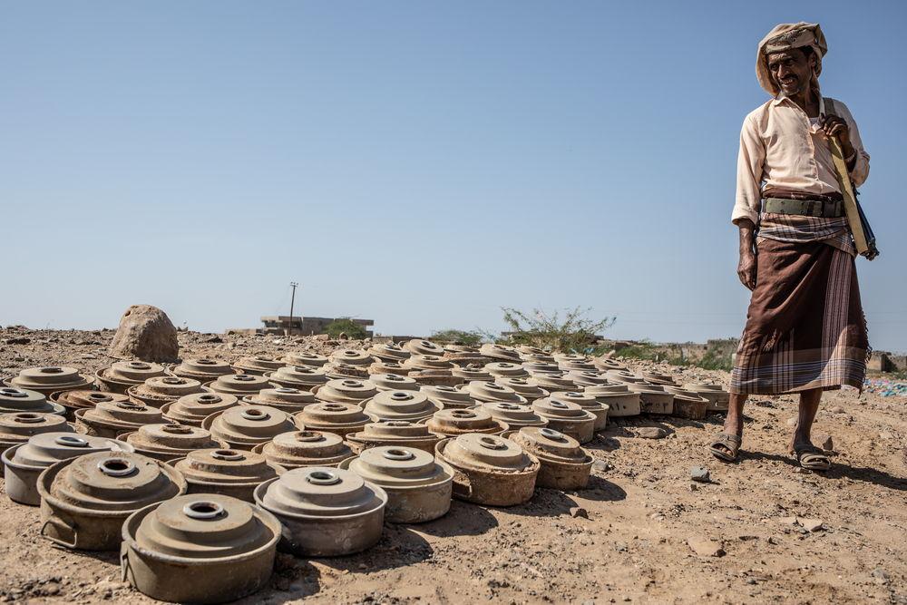 Restos de minas antipersona en Mawza (Taiz). Agnes Varraine-Leca/MSF