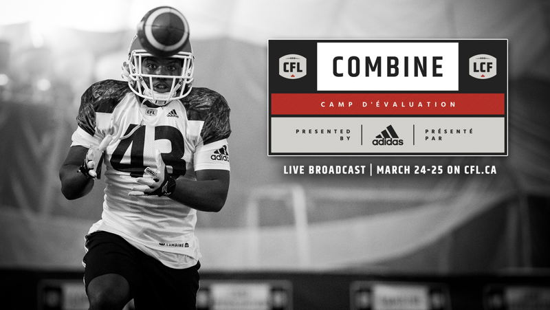 The CFL Combine presented by adidas will stream live on CFL.ca