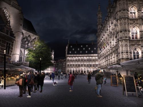 Duurzame buitenverlichting voor historisch stadhuis Leuven