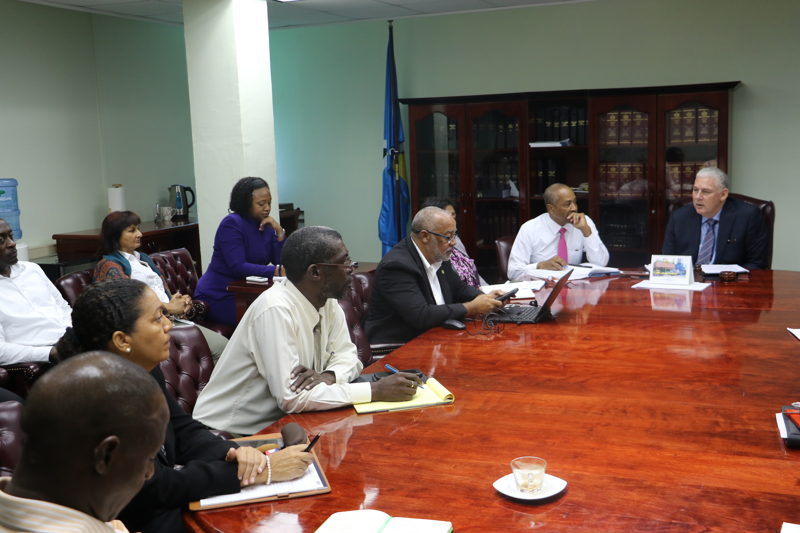 OECS Chairman and Prime Minister of Saint Lucia, Honourable Allen Chastanet, addresses the meeting.