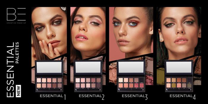 Be a pro met de nieuwe Essential Eyeshadow Palettes van BE Creative Make Up