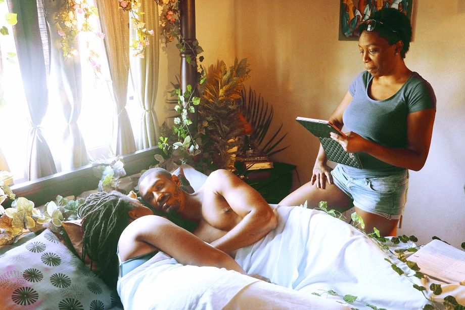 A scene from the movie 'The Knot' produced by Davina Lee