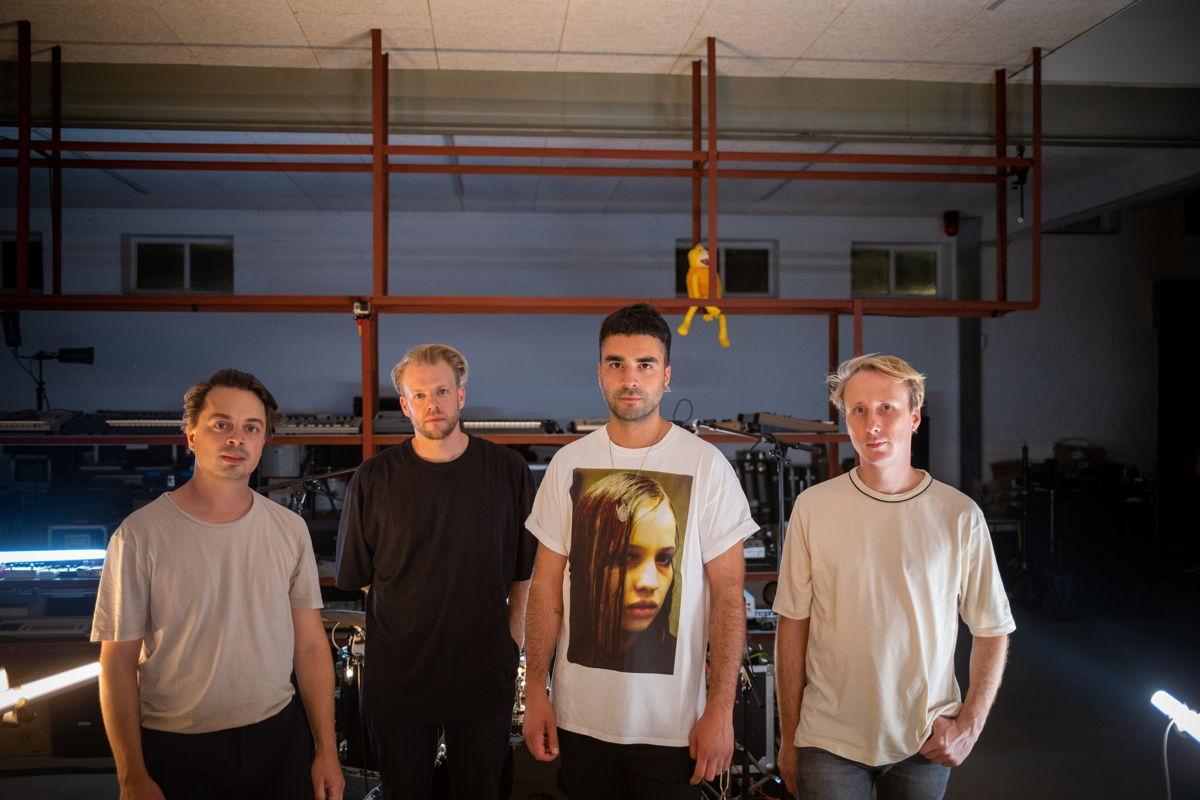 GOOSE, von links nach rechts: Dave Martijn, Bert Libeert, Mickael Karkousse und Tom Coghe (Bild mit freundlicher Genehmigung von Universal Music Belgium)