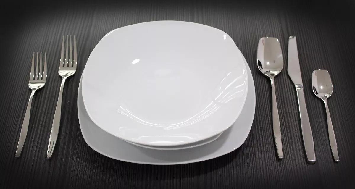 Vajilla Cuadrada De Porcelana