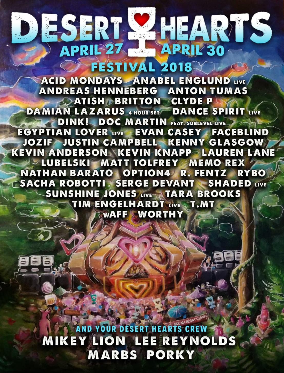 Desert Hearts Announces Lineup for Spring 2018 Festival