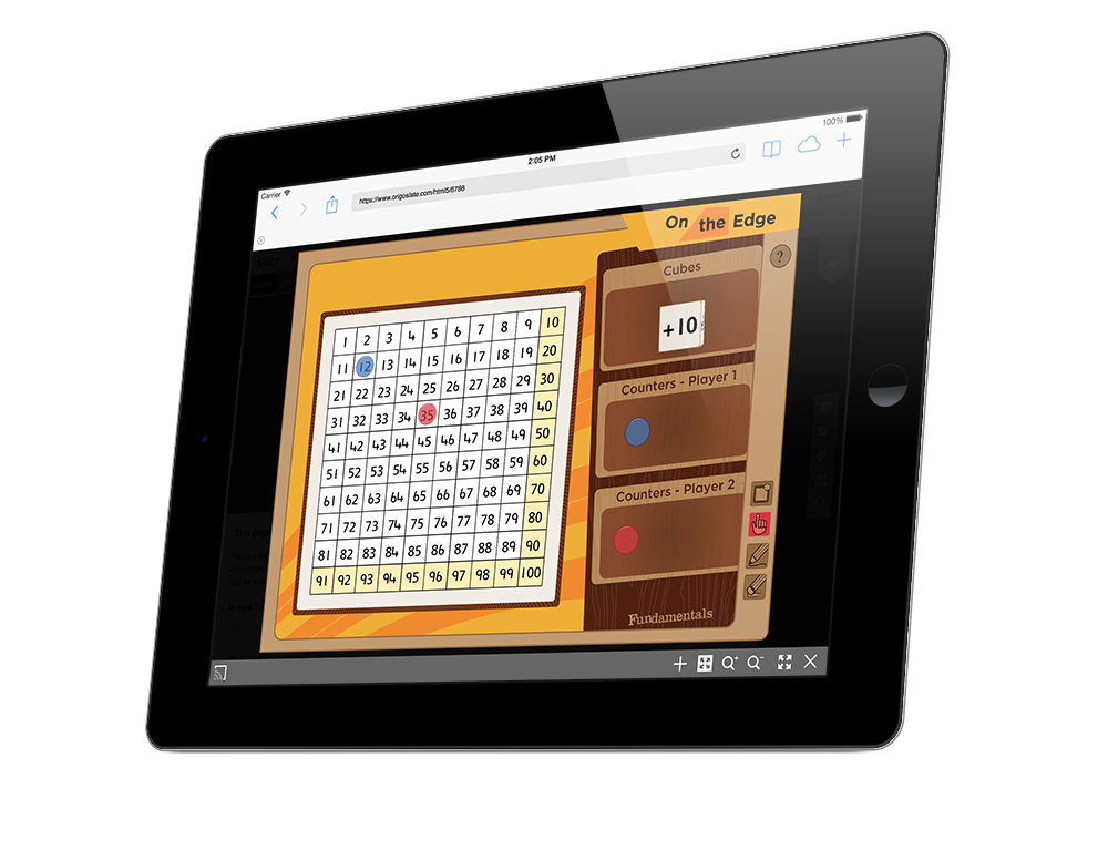 SlateCast feature broadcasts games to individual students, work groups or to one classroom device