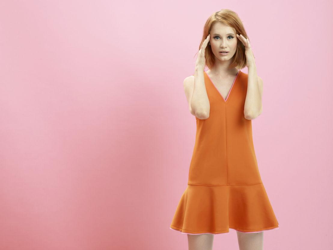 Pepita 24/7 - Orange dress - €98