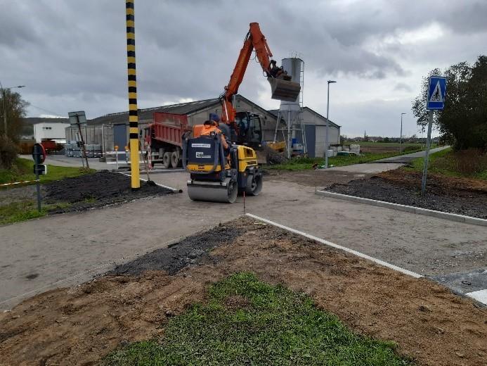 Provincie verbetert kruispunten en verharding fietssnelweg F45 in Kluisbergen
