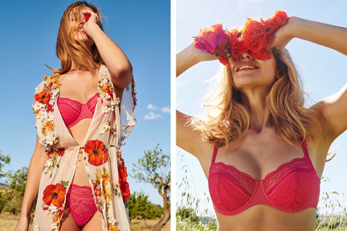 Marie Jo is celebrating Valentine's Day with Francoise, which is synonymous with intuitive femininity