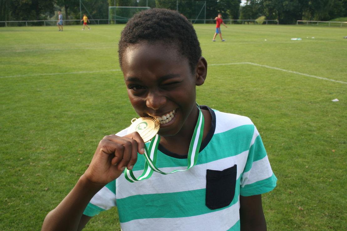 Ein Siegerlächeln ist für alle Teilnehmer des Kick'n Run garantiert.