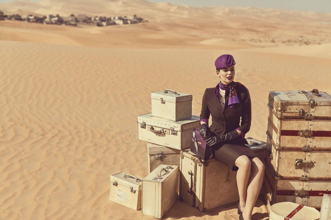 De nieuwe uniformen van Etihad Airways.