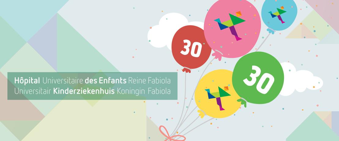 Het Universitair Kinderziekenhuis Koningin Fabiola viert zijn 30ste verjaardag