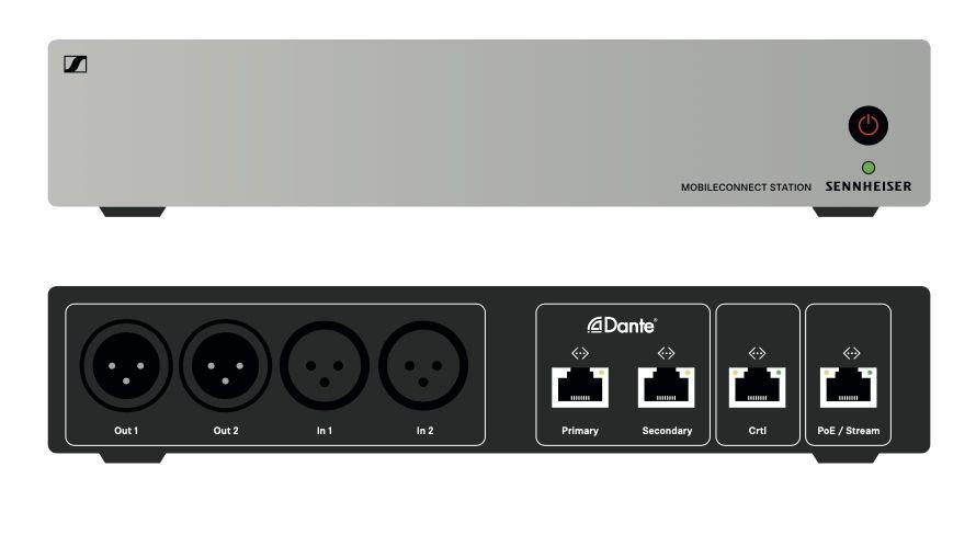 Die MobileConnect Station wandelt die Audiosignale der Dozenten in netzwerkfähige, digitale Pakete um