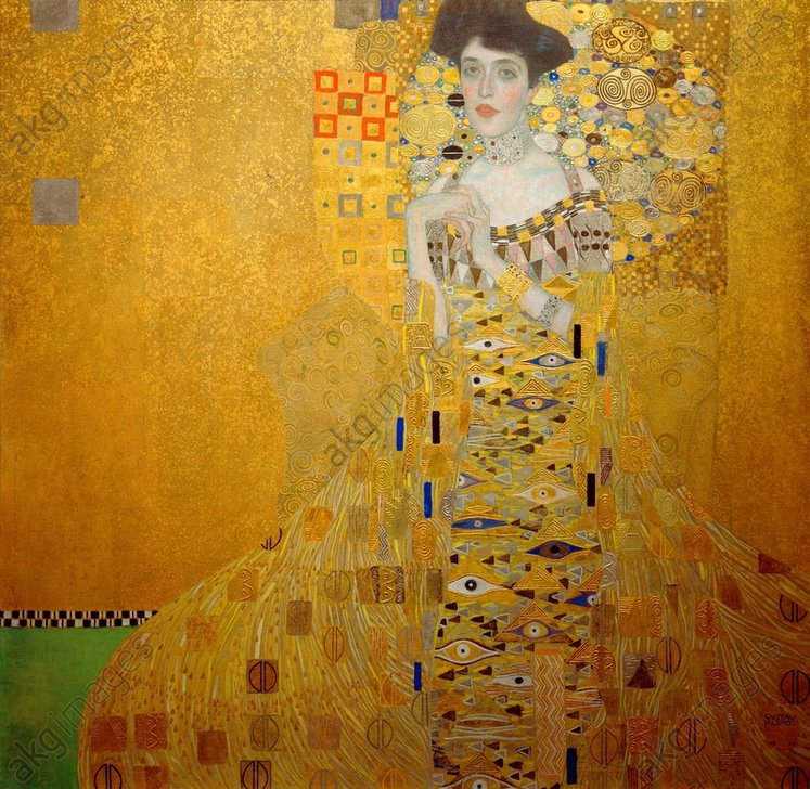 &quot;Portrait of Adele Bloch-Bauer I&quot;, 1907.<br/><br/>Oil, silver and gold leaf on canvas, 138 x 138 cm.<br/><br/>Neue Galerie New York, USA.<br/><br/>AKG290632