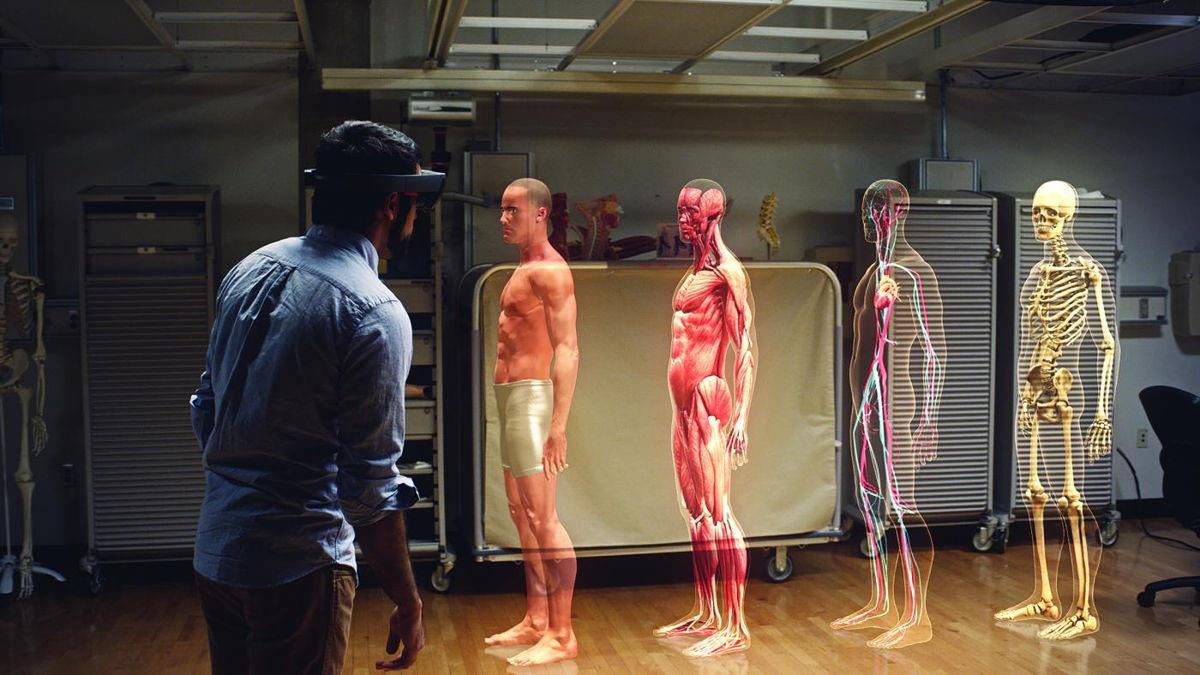 Duik in het menselijke lichaam via de HoloLens