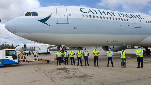 Preview: Cathay Pacific Cargo supports Sri Lanka's fight against the pandemic by transporting testing kits