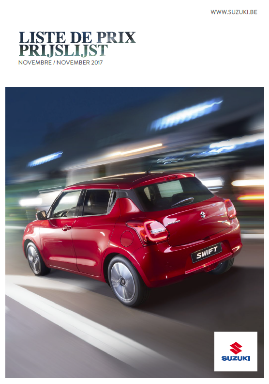 Prijslijst Suzuki november 2017