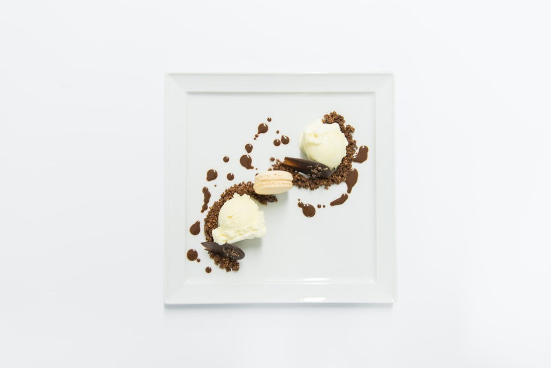 Chocolaterie Willems - Panna Cotta/caramel/sinaas en Dame Blanche/macaron