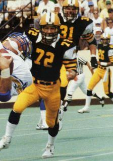Leo Ezerins as a member of the Hamilton Tiger-Cats