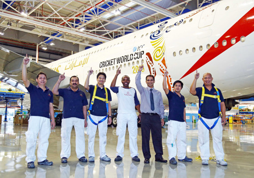 Aircraft decals: work of art and Emirates Engineering