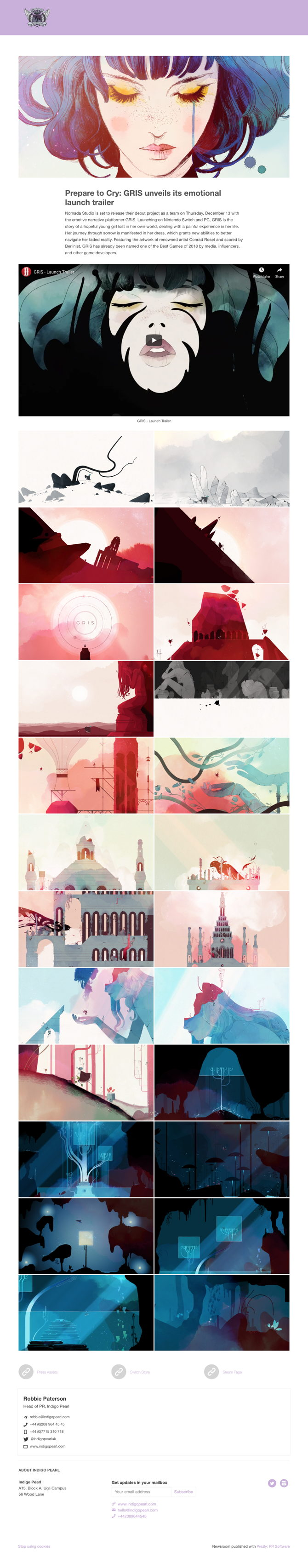 Prepare to Cry: GRIS unveils its emotional launch trailer
