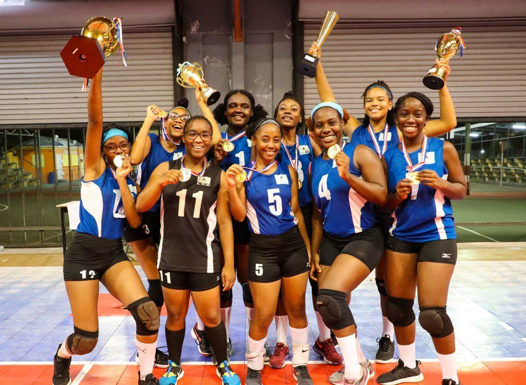 Saint Lucia's winning 2019 ECVA U21 Women's Team Photo courtesy NORCECA