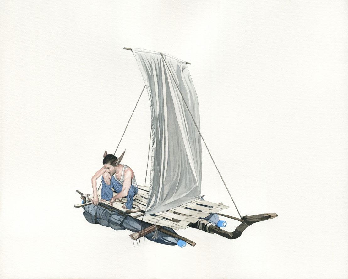 Fabien Merelle, Radeau de Fortune - courtesy Art Bärtschi & Cie, the artist