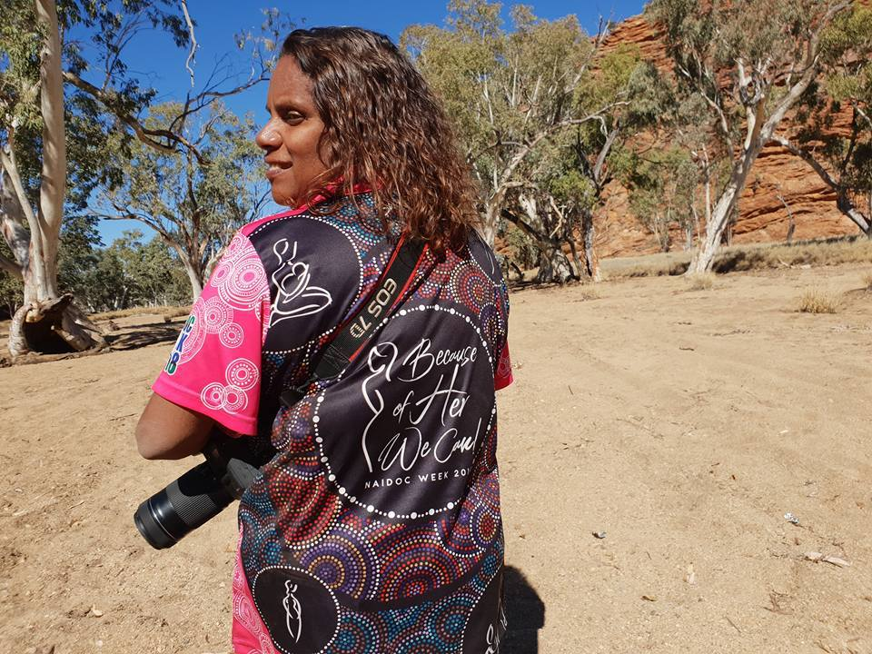 "Milly Hooper in Alice Springs, as part of the ""This Place"" project."