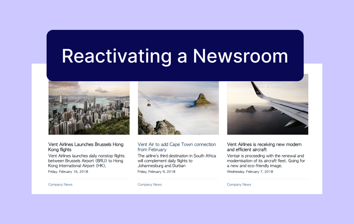 Help: Reactivating an archived Newsroom