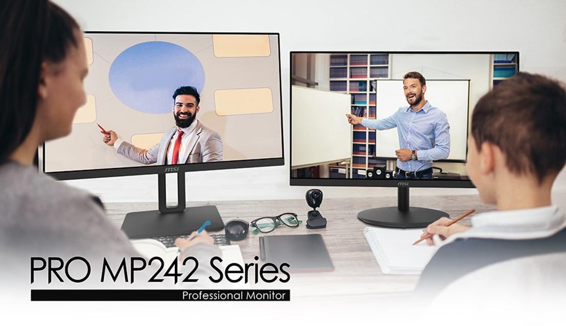 Effektiv und augenschonend arbeiten und lernen mit der MSI PRO MP242-Serie