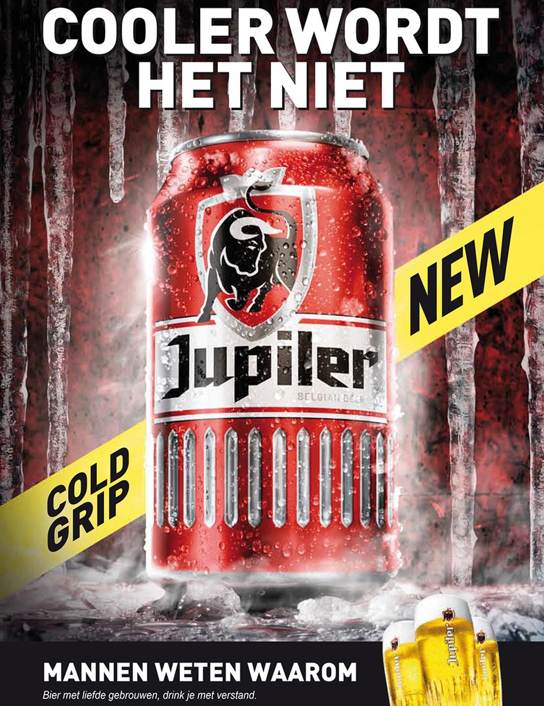 Jupiler lanceert wereldprimeur met Cold Grip Can: een uniek stoer blik met ribbels  voor ijskoude Jupiler, altijd en overal