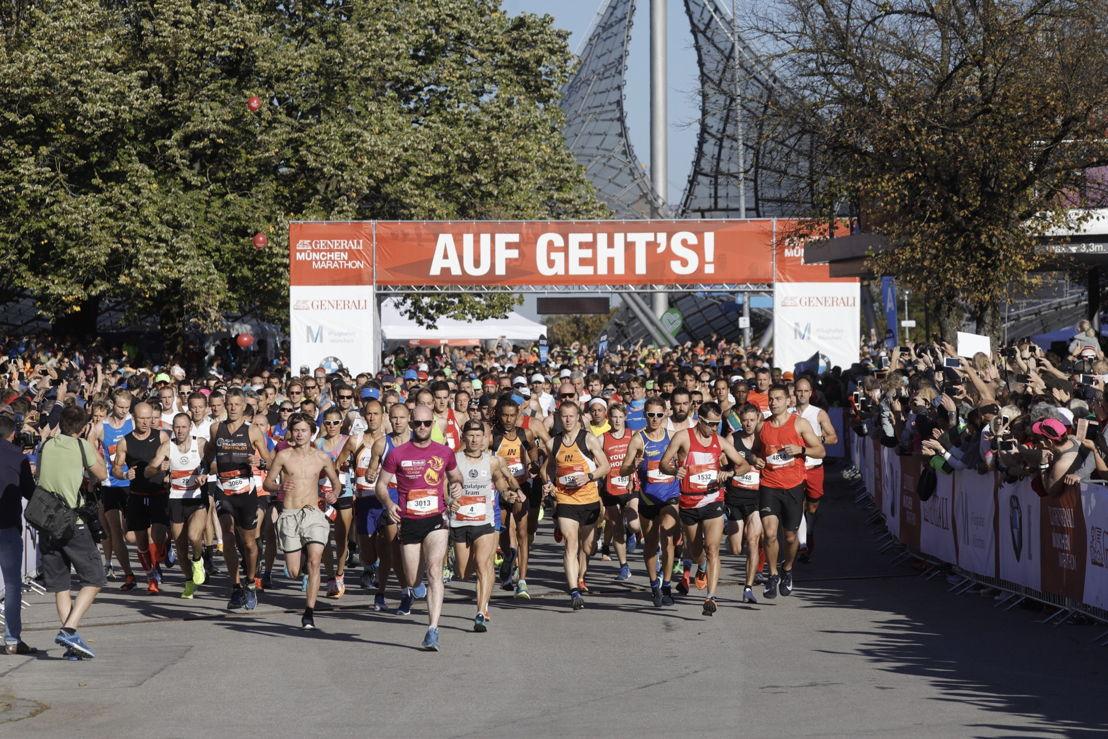 21.096 Teilnehmer starten beim 33. GENERALI MÜNCHEN MARATHON