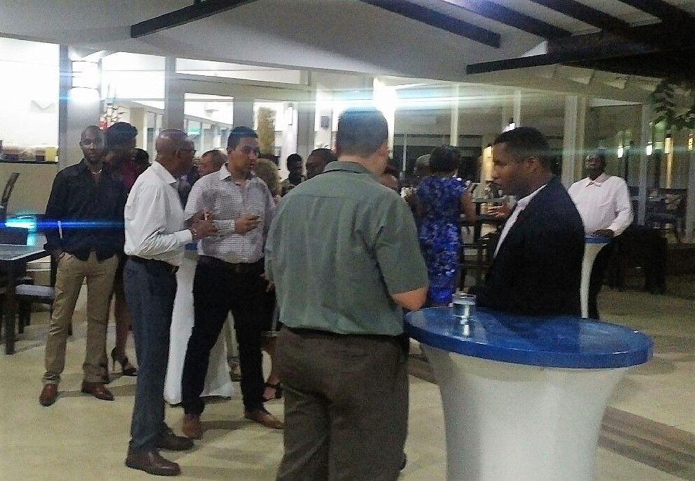 Attendees mingling after Opening Ceremony.