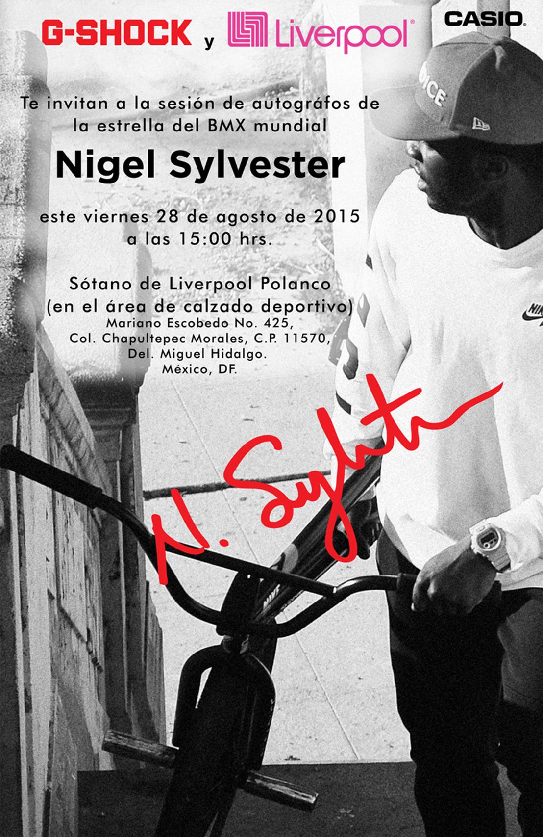 ¡Nigel Sylvester llega a México!