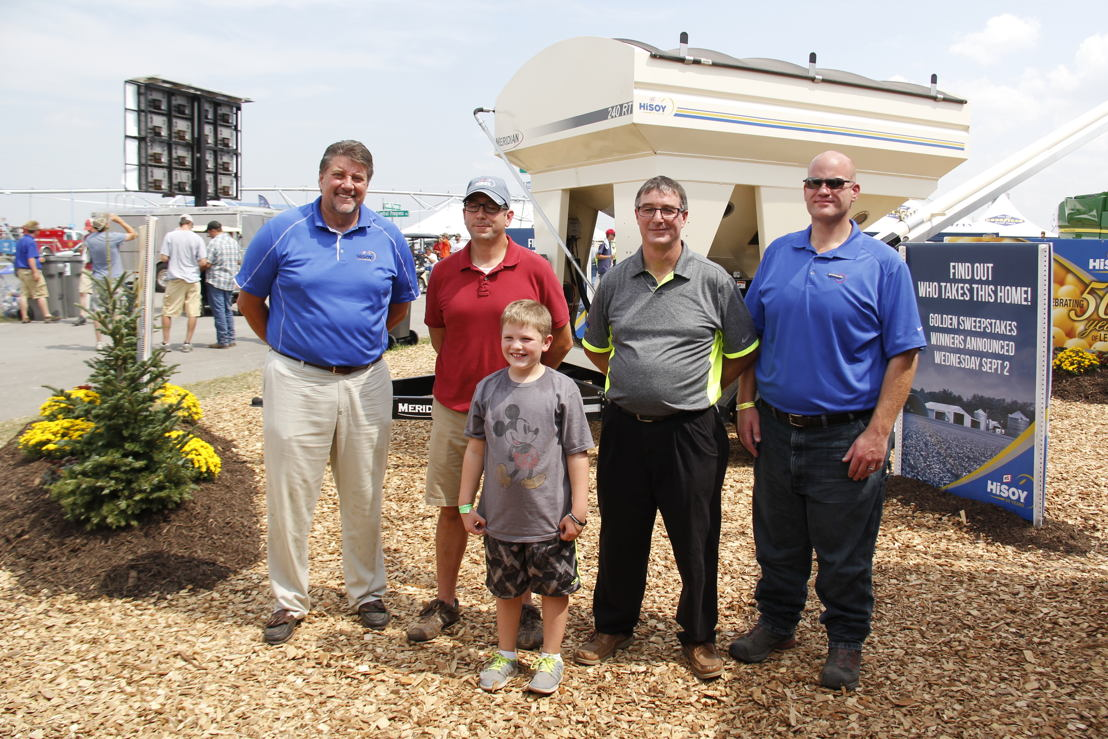 Pictured L to R: Mark Thornsbrough, GMK Seed Division manager, Matt Davis, Adam Davis, John Walsh, GRAINCO FS, Mike Fredrickson, GRAINCO FS.