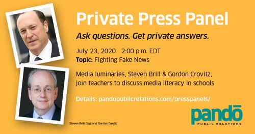 Private Press Panel - Fighting Fake News: Teachers, Technology & Truth - SEE TRANSCRIPT bit.ly/transcript072320