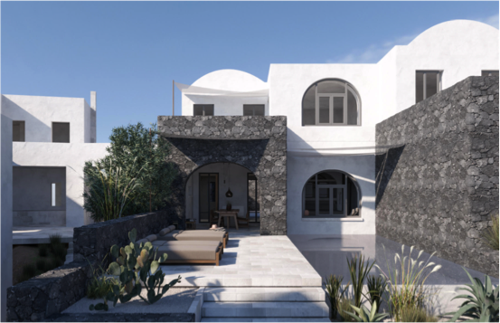 The Epitome of Luxury Lands in Santorini