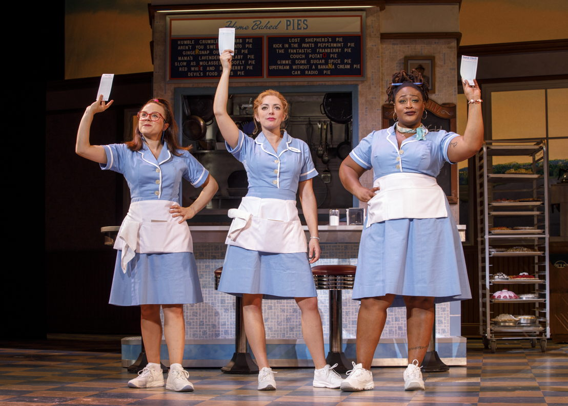 Lenne Klingaman, Desi Oakley and Charity Angel Dawson in the National Tour of WAITRESS Credit Joan Marcus