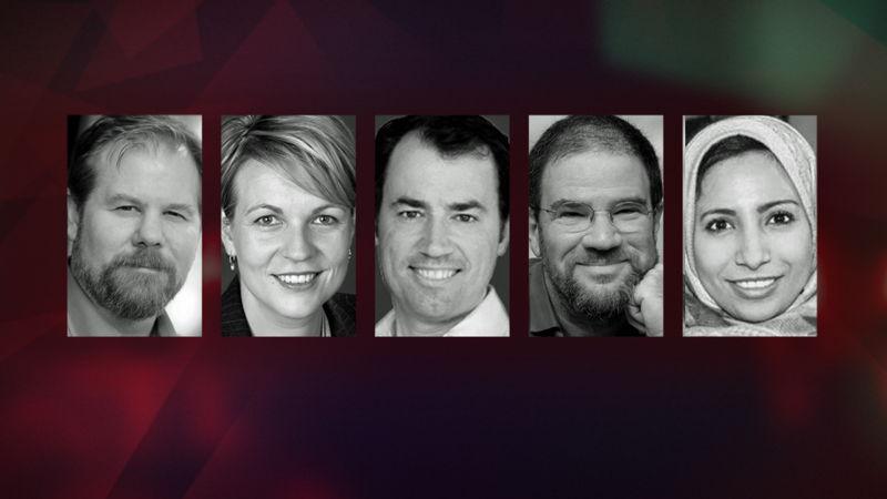 David Kilcullen, Tanya Plibersek, Michael Keenan, Eldad Beck & Raihan Ismail.