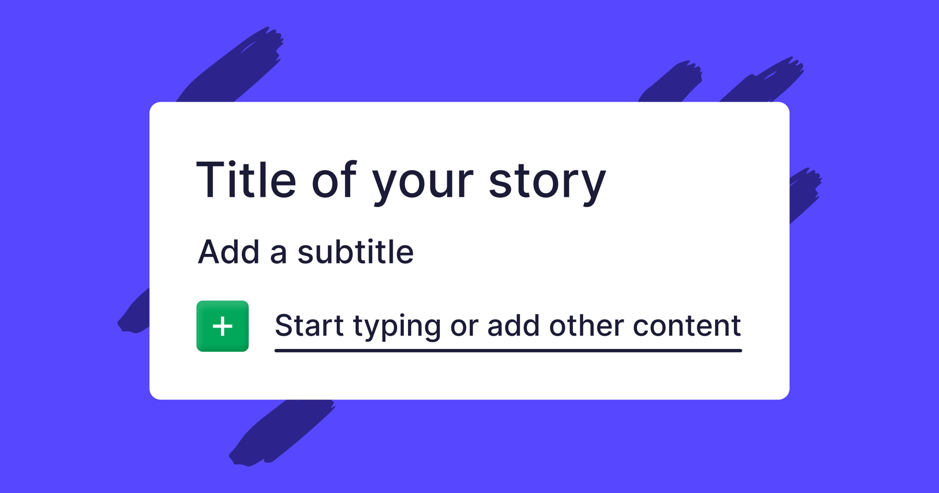 Tell your brand's stories in full colour