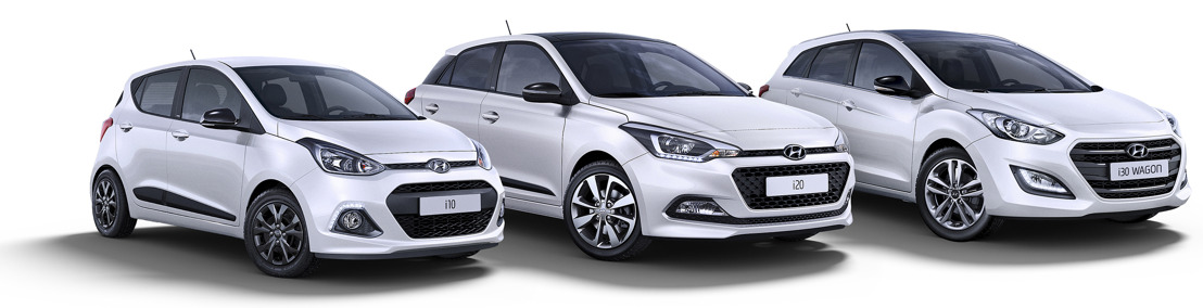 Hyundai lanceert de Blackline speciale serie voor i10, i20 en i30.