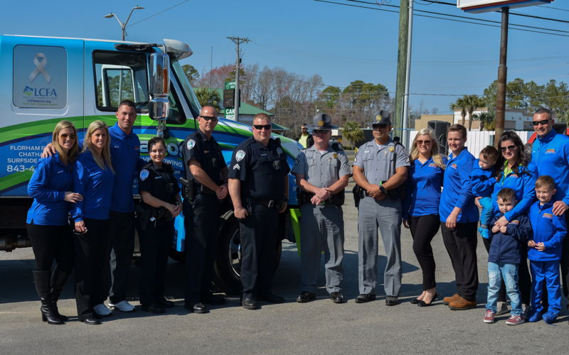 Member of the South Carolina Highway Patrol and Surfside Beach Police Department attended the event as well