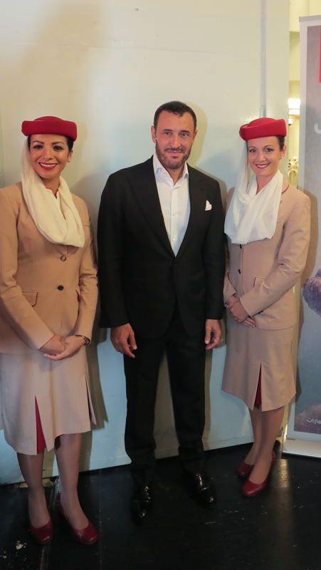 Kadim Al Sahir before giving a dazzling live concert at the 2017 Stars on Board entertainment event