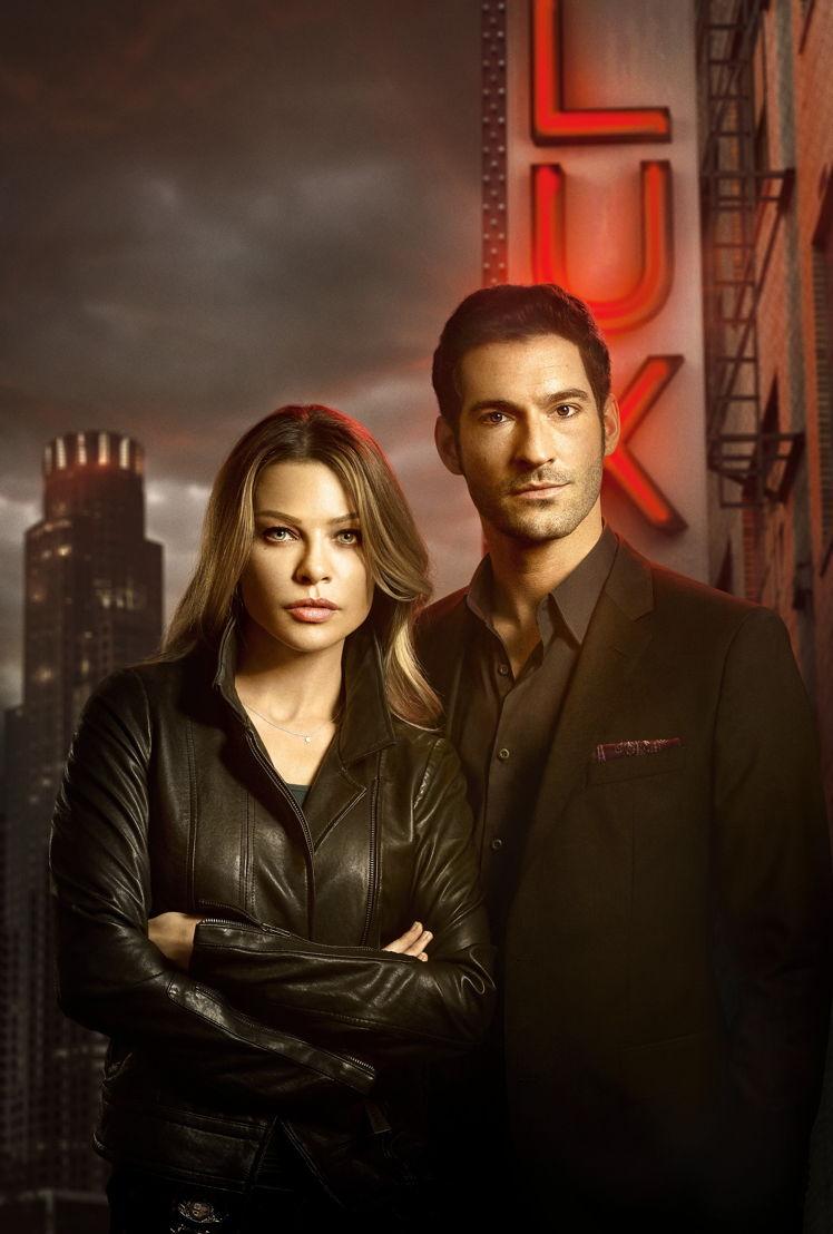 Tom Ellis (Lucifer) & Lauren German (Chloe)
