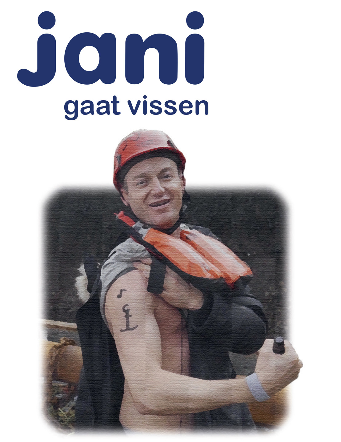 Jani, Piet, Joris en Corneel.