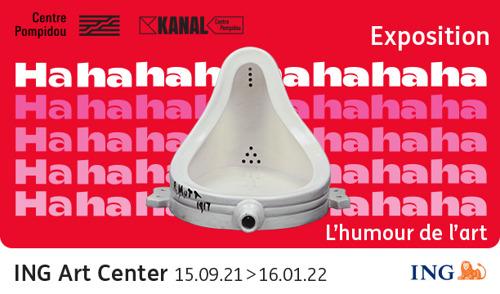 Nouvelle exposition à l'ING Art Center: Hahaha. L'humour de l'art