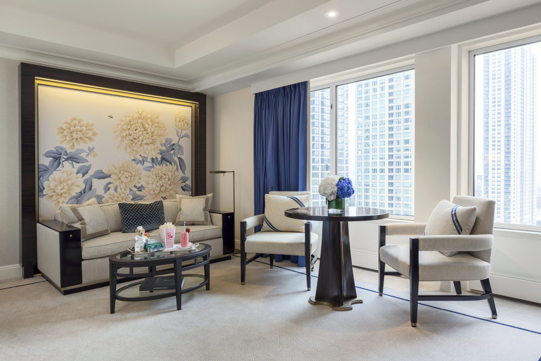 Premier Deluxe Guestroom Living Area The Peninsula Chicago